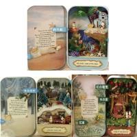 【3type】ミニチュアドールハウスキット縦  可愛らしい木のお家や、色鮮やかな海と小島など、見てい...