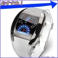 スピードメーターデザイン LEDデジタル腕時計 カレンダー表示 デジタルウォッチ デジタル表示 LED腕時計 スピードメーター風 デジタル 腕時計 メンズ