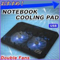 夏場のPC作業の必需品! ダブルファンで冷却効果抜群!  本体とPCをUSBケーブルで繋ぐとファンが...