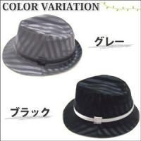 中折れ帽子 ハット メンズ アウトドア ハット レディース 春夏 送料無料 無地 シックな太ストライプ 2色リボン 全2色 hat-730-01-02