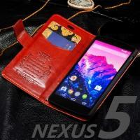 対応機種: ・Nexus5 素材  :PUレザー  カラー(全5色)  (1) ホワイト (2) ブ...