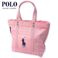 40%OFF アウトレット品 ポロラルフローレン POLO RALPH LAUREN 正規品 ビッグポニー トートバッグ Canvas Big Pony Tote PINK