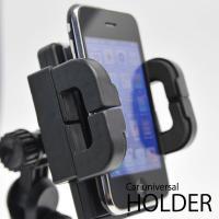 モバイル機器がカーナビに早変わり!車載用 スマホホルダー iPhone ワンタッチ強力固定式 スマホスタンド 角度調整 ナビ機能 音楽再生 ◇ 吸盤式マルチホルダー