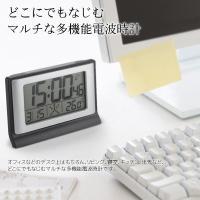 時計、目覚まし、カレンダー、温度計など使える便利なツールを備えた多機能時計です。 時刻表示は大きく見...