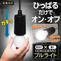 電池式だから、使いたい場所で簡単に明るく照らす! どこでも好きな場所で使える電球型のかわいいLEDラ...