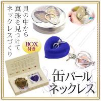◆厳しい品質基準を通過した淡水真珠◆ 願いが叶う!貝から真珠を取り出す「パールの缶詰」 ネックレスキット 5~8mm 天然色 プレゼントに おしゃれ ◇ 缶パール