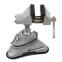 テーブル、作業台などにワンタッチ吸着! コンパクトサイズで使い勝手の良い万力!  時計工具での修理、...