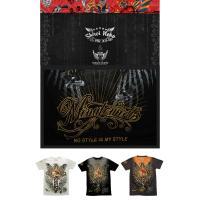 シロイネコ Wings Of Valentine プリント 半袖Tシャツ ブラック色 ロゴtシャツ メンズ レディース ヒップホップ ファッション ブランド ヒップホ