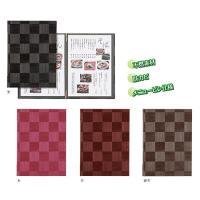 メニューブック A4対応  シンビ LS-111 黒・茶・銀茶・赤(市松模様)