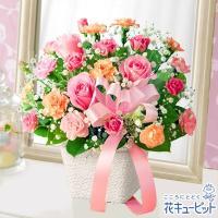 お母さんの好きなバラやカーネーションがふんわりと美しく映える、スタンダードなワンサイドデザインです。...