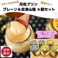 月色 プリン プレーン&会津山塩6個セット ギフト 常温 お歳暮 スイーツ 洋菓子