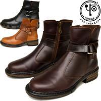 ☆新作☆YOSUKE U.S.A ヨースケ 本革 レザー エンジニア ブーツ ショート ブーツ 商品...