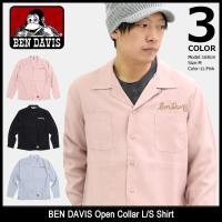 ベンデイビス BEN DAVIS シャツ 長袖 メンズ オープン カラー(T-8380022 Open Collar L/S Shirt 開襟シャツ カジュアルシャツ トップス)