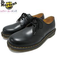 ドクターマーチン ブーツ Dr.Martens 3ホール レディース & メンズ 1461 3アイ ギブソン シューズ ブラック(3 EYE GIBSON SHOE R11838002)