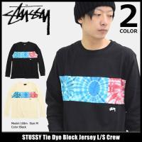 ステューシー STUSSY カットソー 長袖 メンズ Tie Dye Block Jersey(st...