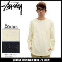 ステューシー カットソー 長袖 STUSSY メンズ Over Dyed Boxy(stussy crew トップス レイヤード 男性用 114950)