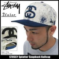 ステューシー STUSSY キャップ Splatter Snapback キャップ(stussy Stussy cap キャップ スナップバック メンズ・男性用 帽子 131345)