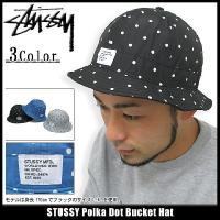 ステューシー STUSSY Polka Dot Bucket ハット(stussy hat Stussy HAT メンズ 132475)