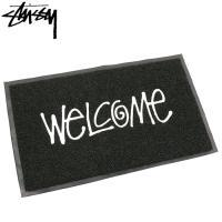 ステューシー マット STUSSY メンズ PVC Welcome(stussy mat 玄関マット メンズ・男性用 138493 USAモデル 正規 小物)