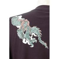 語れる立体和柄ロングTシャツ S-1670/緑龍 L(同梱・代引不可)