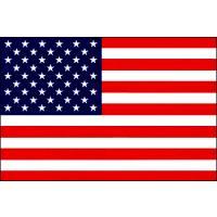 テトロンまたは、羽二重製 アメリカ国旗(12x18cm・卓上旗)  ※色、図柄等は実物と異なりますの...