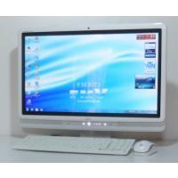 お洒落な一体型 富士通 F/E70T(FMVFE70TW) 20インチワイド液晶 Intel Cor...