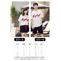 Tシャツ ペアルック カップル  メンズ レディース スウェット ジャージ  スポーツ 半袖 上着 薄手 夏 男女兼用 韓国風