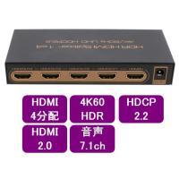 aHSP14-4KHDRはハイビジョンの映像ソース1つから、4分配して4つの機器に同時に分配する装置...