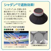 UVカット率99% 遮熱-4.1℃&-2.9℃ 紫外線対策 遮熱折りたためるクール日よけ帽子