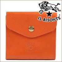 イルビゾンテ 二つ折り財布 IL BISONTE Wホック財布  製品に対するこだわりと丁寧な仕事が...