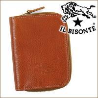 イルビゾンテ IL BISONTE 4連キーケース  イタリアンブランド「イルビゾンテ」。正面にブラ...