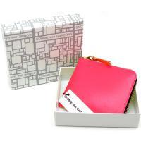 コムデギャルソン ミニ財布 コンパクト コインケース COMME des GARCONS レディース ピンク×イエロー SA3100SF PINK-YELLOW