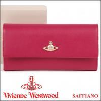 ヴィヴィアンウエストウッド「SAFFIANO」シリーズの長財布です。小銭入れのファスナーがL字型にな...