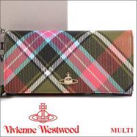 ヴィヴィアンウエストウッド フラップ長財布  一時期廃盤となっていたこちらのチェック柄ですが、201...