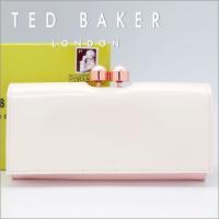 テッドベーカー TED BAKER がま口長財布  イミテーションパールの留め金が素敵なテッドベーカ...