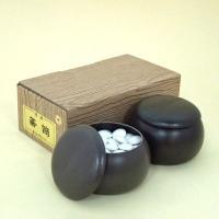 囲碁セット プラスチック碁笥と碁石の椿セット