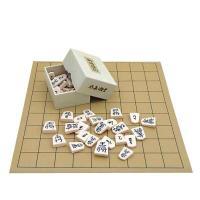 ややミニサイズの将棋盤とプラスチック製上駒水無瀬書の将棋盤セットです。 将棋の入門の方やお子様にもお...