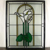 ◇ステンドグラス500x400mmデザインパネル材料雑貨窓ドア壁美しいステンドガラスsgsm404◇...