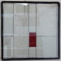 ◇ステンドグラス300x300mmデザインパネル材料雑貨窓ドア壁美しいステンドガラスsgsq305◇...