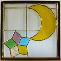 ◇ステンドグラス300x300mmデザインパネル材料雑貨窓ドア壁美しいステンドガラスsgsq309◇...