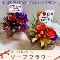 ソープフラワー ボックス カーネーション アレンジメント 母の日 プレゼント 赤 ピンク 緑
