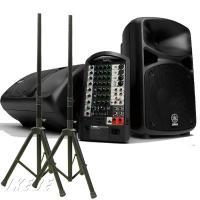 コンパクトなのにハイパワー・高音質なポータブルPAシステム、STAGEPASと、汎用スピーカースタン...