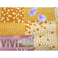 ビビジェンヌ 仕立上り 女性用ゆかた オレンジ花 フリーサイズ 上質 新品 573