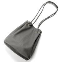Cisei   / グレインレザードローストリングバッグ「F1202 LD」(GREY/グレー)