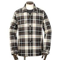 GUY ROVER  21-22AW!コットンヘビーフランネルチェックCPOシャツ「GR310J」(ダークブラウン×ホワイト×ベージュ×ブラック)
