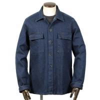 GUY ROVER  21-22AW!製品洗いコットンストレッチデニムCPOシャツ「GR310J」(インディゴブルー)