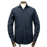 GUY ROVER  21-22AW!製品洗いコットン極細畝コーデュロイワイドカラーシャツ「W2670L」(ネイビー)