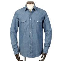 GUY ROVER  21-22AW!製品洗いコットンシャンブレーウエスタンシャツ「GR160LJ」(ライトインディゴブルー)
