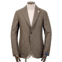 LARDINI   / 21-22AW!カシミヤウールフランネル3Bジャケット「JU903AQ(EASY)」(グレイッシュブラウン)