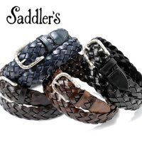 Saddler's サドラーズ Saddler's/ 彫金バックルレザーメッシュベルト「G74」(4 colors)